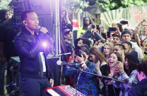 John Legend performing.