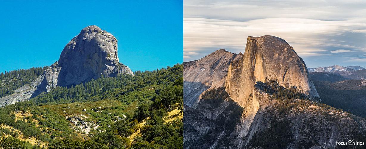 Sequoia and Yosemite exfoliation geology
