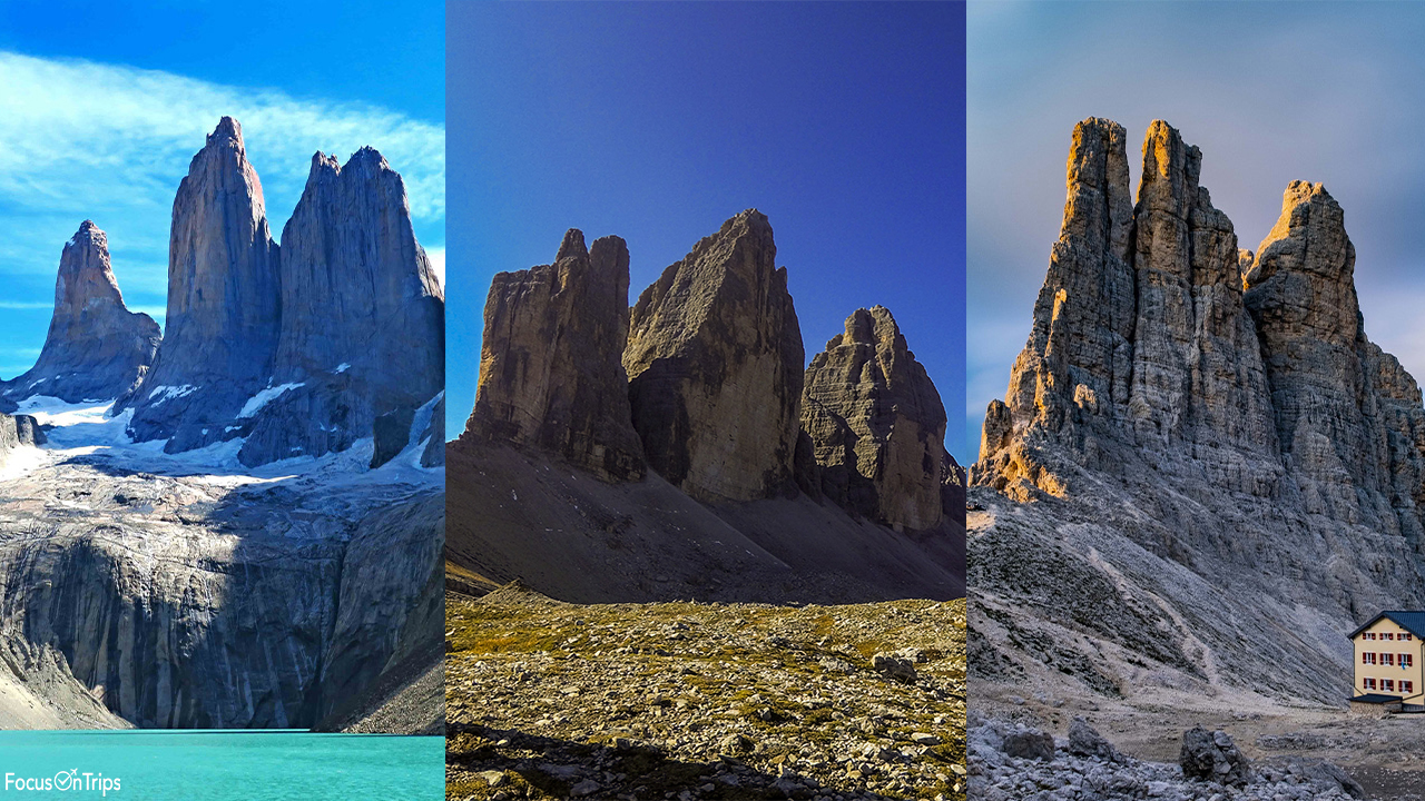 Torres del Paine Tre Cime di Lavaredo
