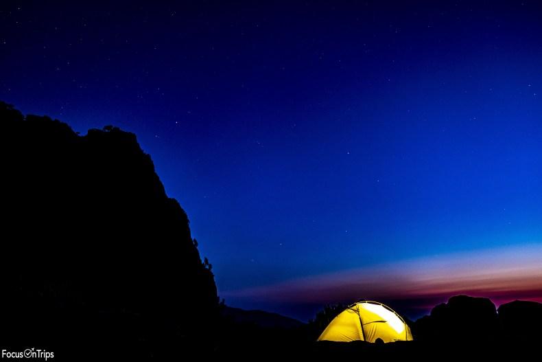 GR20 trekking before sunrise
