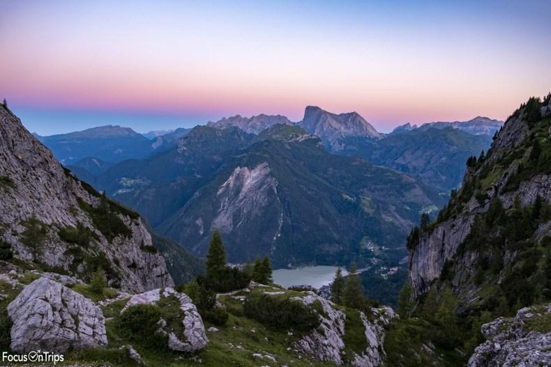 tramonto marmolada lago alleghe