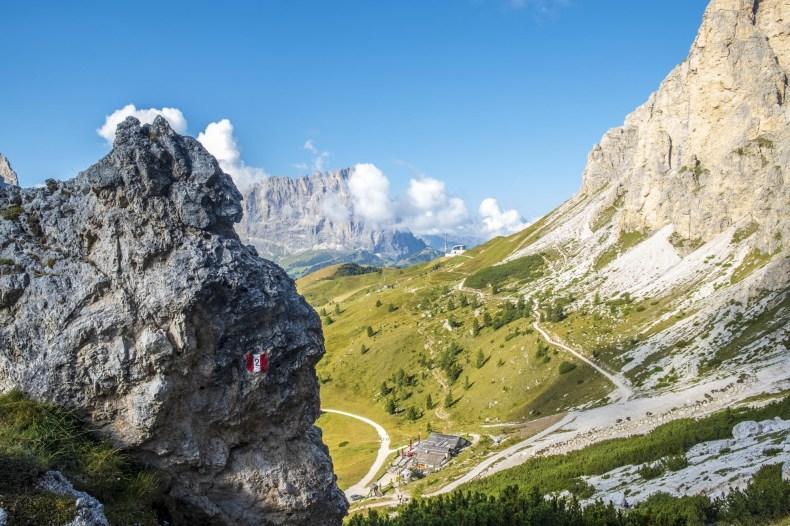 trekking rifugio puez sentiero 2