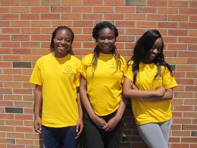 FOY Staff Left to right: Michelle Cambell, Debra Oguntala and Tyra  Ofori.