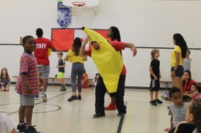 Camp staff going bananas!