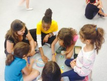 Playtime with St. Bernadette's Campers