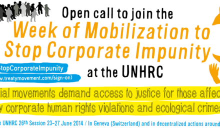 Joint Statement: Call for an international legally binding instrument on human rights and TNCs
