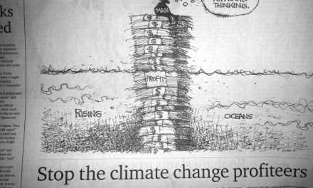 Stop the climate change profiteers