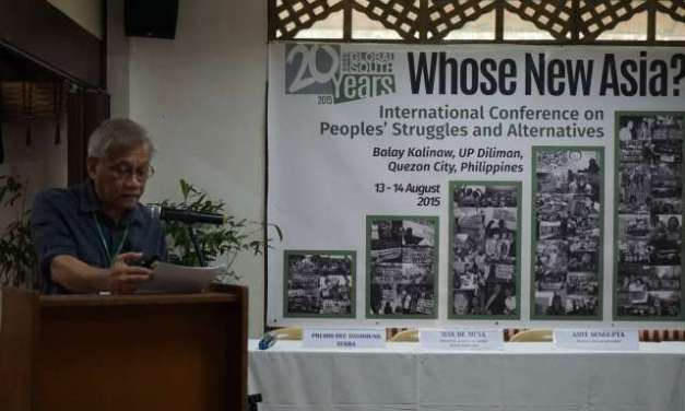 Keynote Speech of Walden Bello at the International Conference on People's Struggles and Alternatives