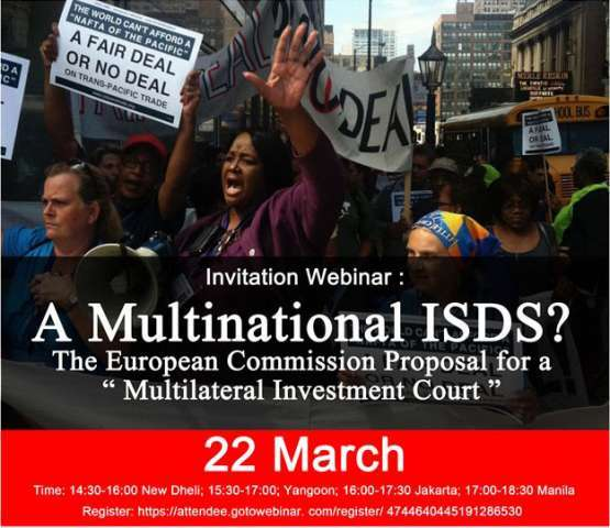 """Webinar Invitation: A Multinational ISDS? The European Commission Proposal for a """"Multilateral Investment Court"""""""