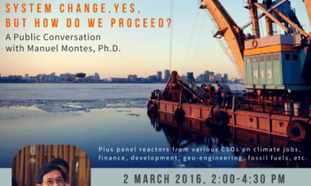 Capitalism V. Climate: System Change, Yes, But How Do We Proceed?   A Public Conversation