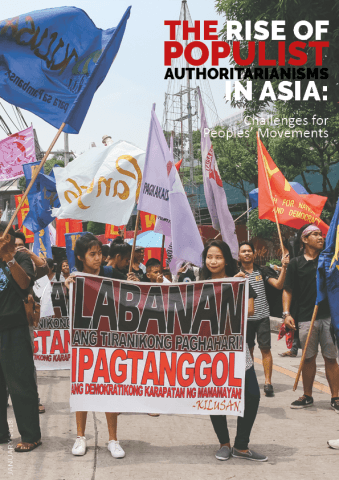 On the 45th anniversary of the declaration of Martial Law, young activists in the Philippines urge their fellow Filipinos to fight against the tyrannical rule of Duterte and to defend the democratic rights of the people. 2017 September 21. Quezon City, Philippines.