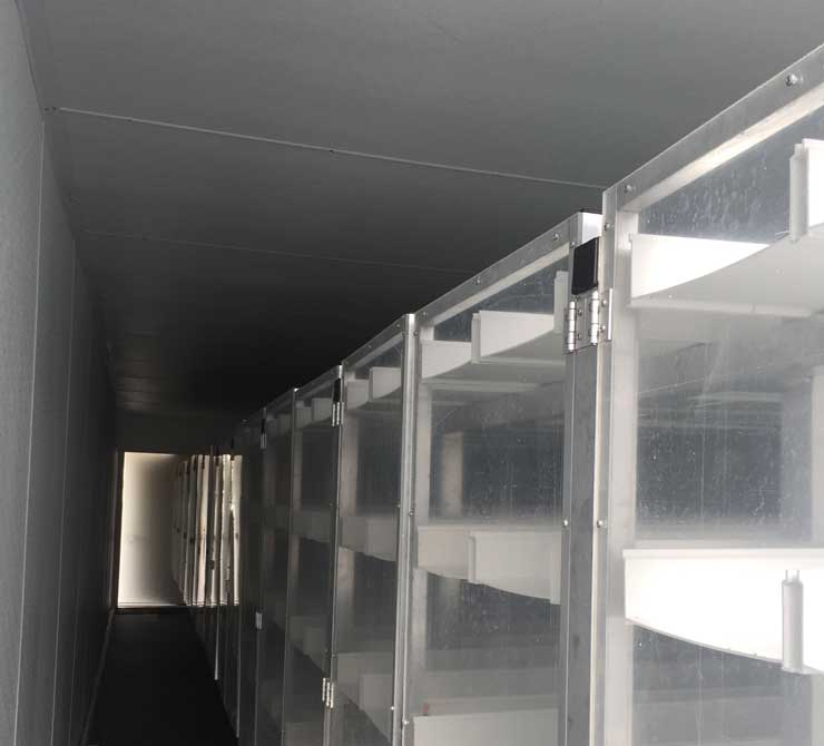 Interior of FodderTech containerized fodder system