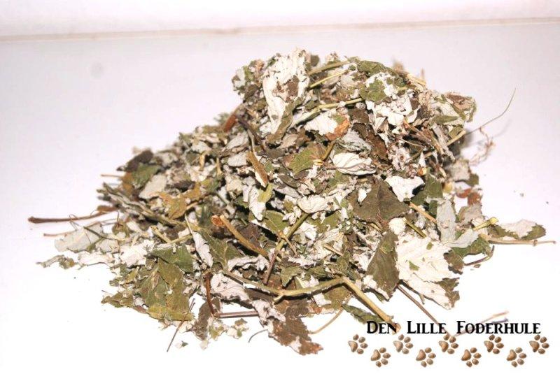 Hindbærblade - til marsvin, kaniner og andre smådyr og gnavere - Den Lille Foderhule
