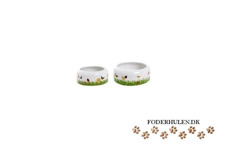 Keramik madskål med motiv