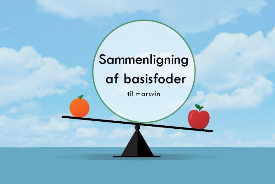 Sammenligning af basisfoder til marsvin - Foderhulen.dk