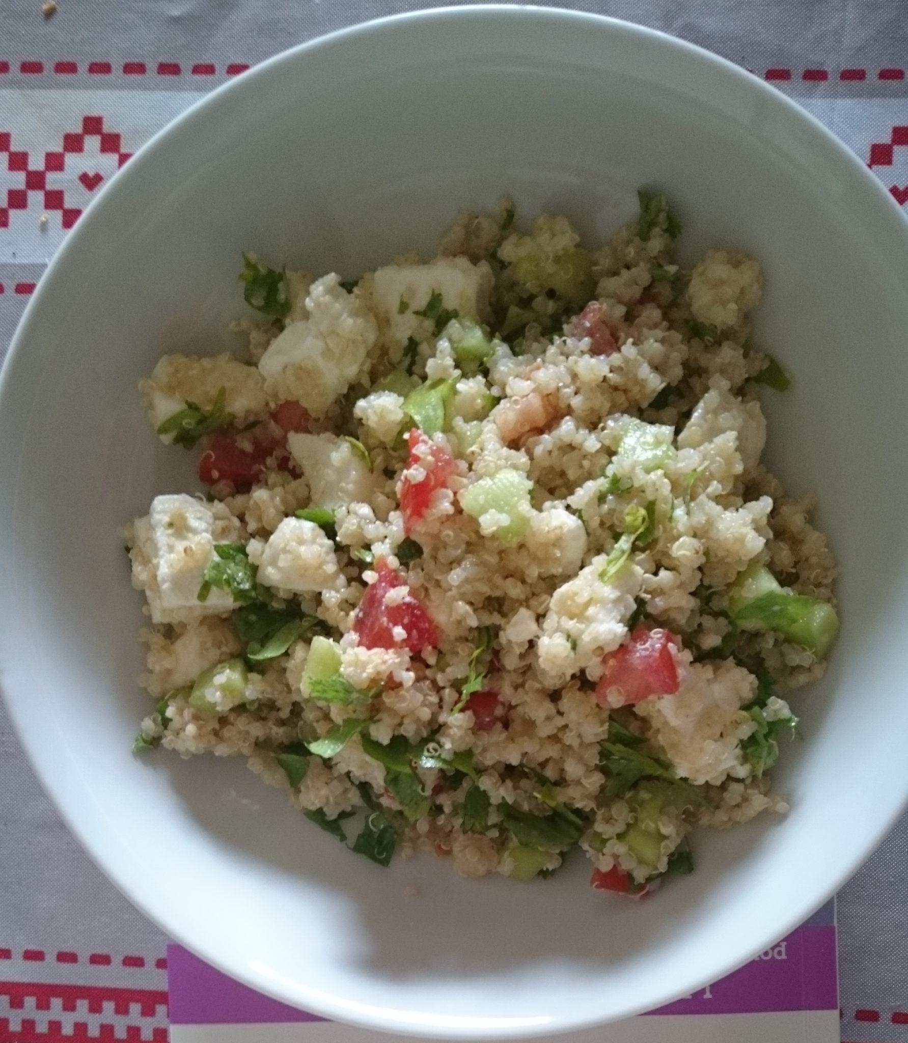 Taboulé de quinoa pauvre en FODMAP