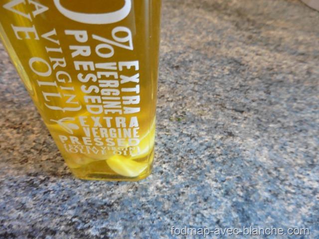 Huile d'olive aromatisée à l'ail pauvre en FODMAP 3