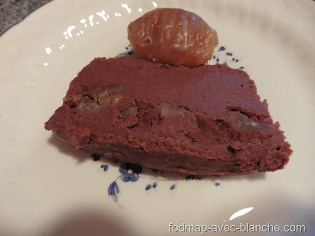 recette gâteau aux marrons sans cuisson pauvre en FODMAP sans lactose sans gluten 11