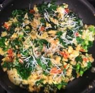 kale, quinoa and egg