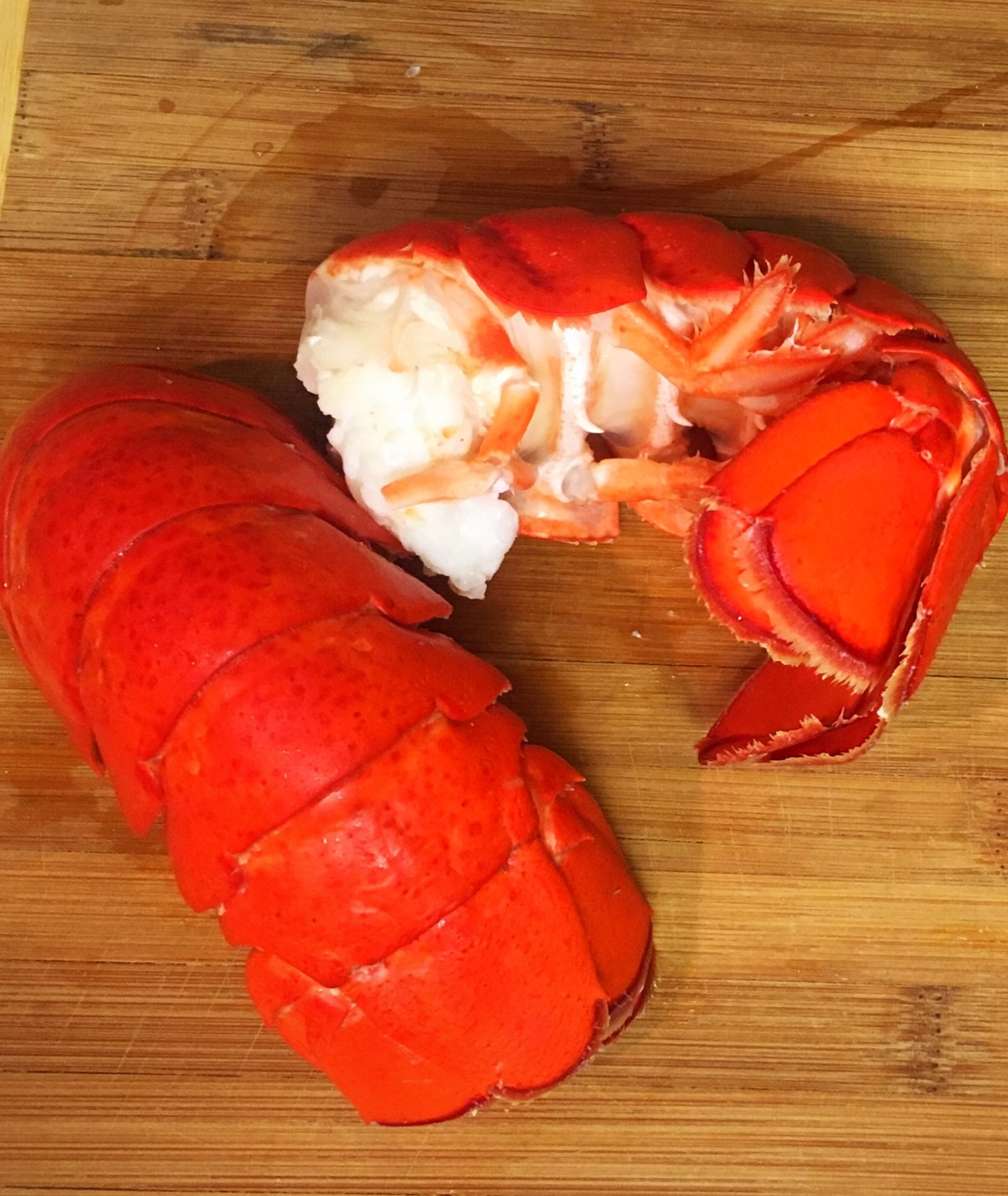 Boiled lobster tail