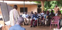 Awareness raising  with farmers about yam farming, forest loss and climate change