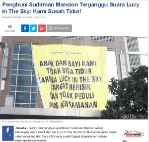 lucy in the sky, apartemen sudirman mansion