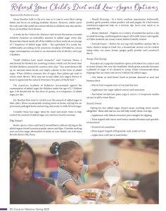 refresh your child's diet