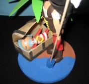 Fofucha personalizada Pirata Mamen y su bebé (detalle)