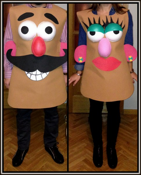 Disfraces Mr&Mrs Potato de goma eva