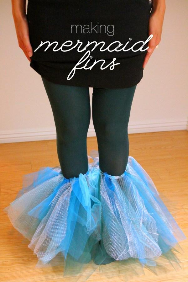 Diy Make Mermaid Fins Pre-halloween Party