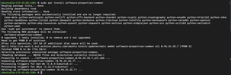 Installing software-properties-common via apt