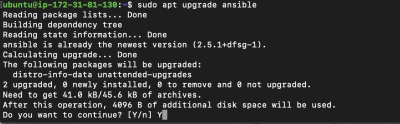 Upgrade Ansible via apt