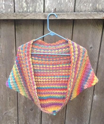 crochet shrug crochet shawl entrelac crochet mini mochi crystal palace yarns fogknits