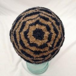 fogknits made in san francisco winter hat knit hat striped beanie blue stripes blue stripe hat brown hat brown knit cap