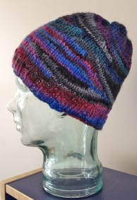 scrap hat stashbusting knit hat short row hat