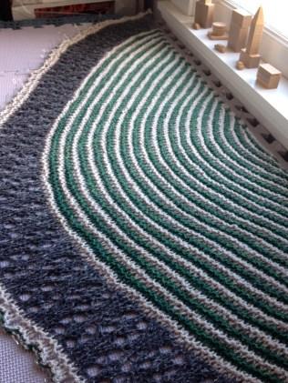 shawl blocking muh muhs shawl garter stripes