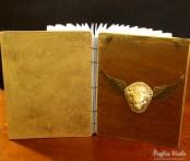 wooden notebook lion roman