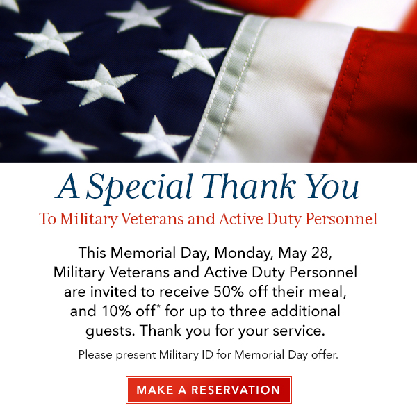 A Special Thank You | Make a Reservation