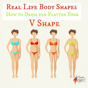Real life body shapes V shape
