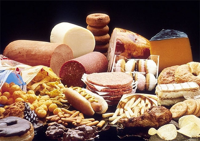 fatty foods (saturated)