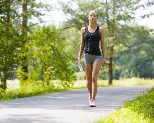 brisk walking or jogging