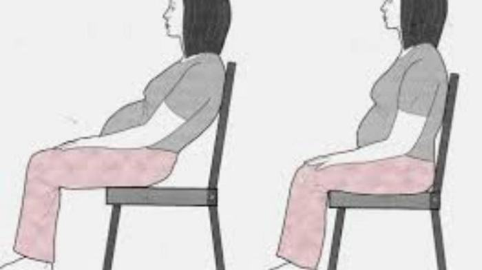 sitting in a chair during pregnancy