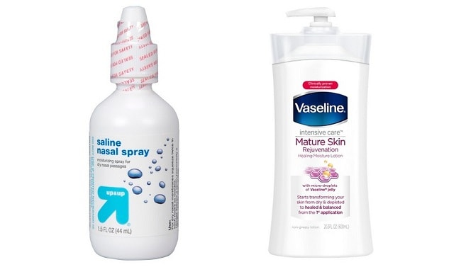 vaseline and saline spray