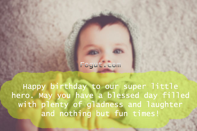 Happy birthday to our super little hero