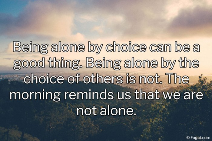 being alone by choice can be a good thing
