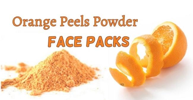 orange peel powder face packs