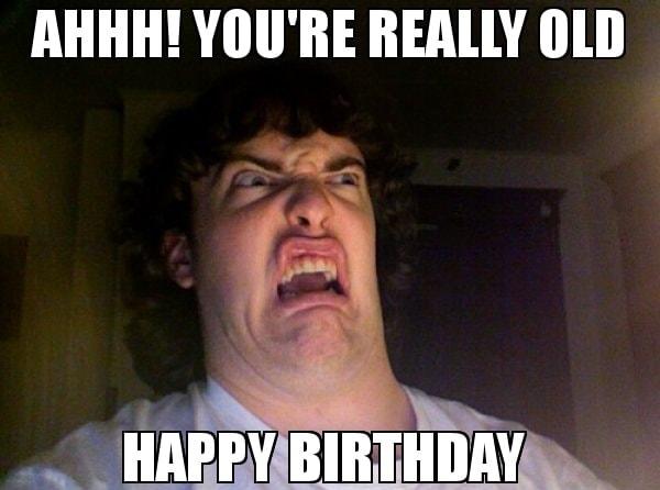 old happy birthday meme