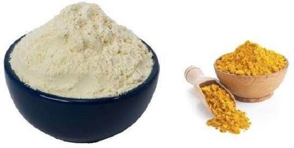 gram flour & turmeric