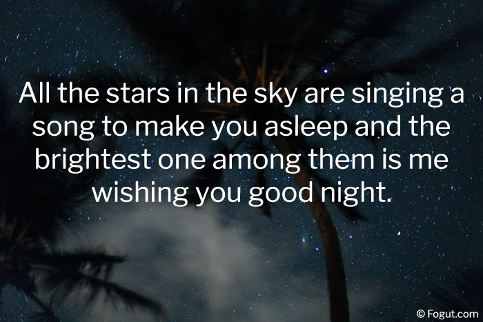 all the stars in the sky are singing a song