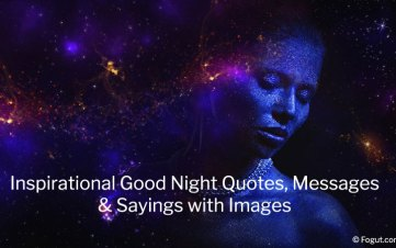 Inspirational Good Night Quotes, Messages & Sayings with Images
